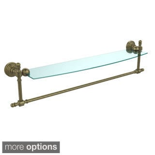 Allied Brass Retro Wave Collection Glass Shelf with Towel Bar