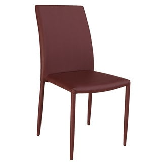 Christopher Knight Home Farrah Burgundy Fully Upholstered Stackable Side Chair (Set of 4)
