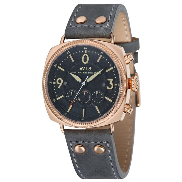 AVI-8 Lancaster Bomber Men's Leather Strap Timepiece