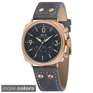 AVI-8 Lancaster Bomber Men's Leather Strap Timepiece
