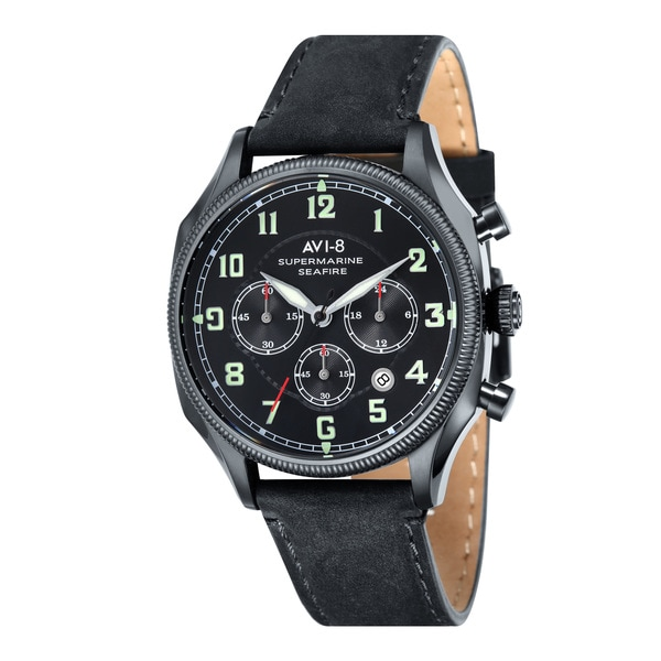AVS-8 Supermarine Seafire Men's Leather Strap Timepiece