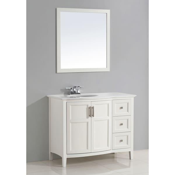 wyndenhall salem white 43 inch rounded front bath vanity