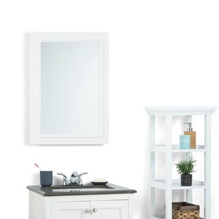 WYNDENHALL Carlyle White Bath Vanity Decor Mirror