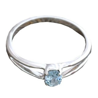 Handcrafted Sterling Silver 'Blue Island' Topaz Ring (India)