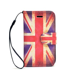 Dasein Faux Leather Union Jack Wallet Phone Case for iPhone and Samsung Phones