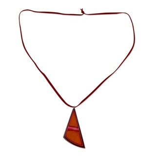 Handcrafted Indian Elm Wood 'Modernity' Necklace (India)