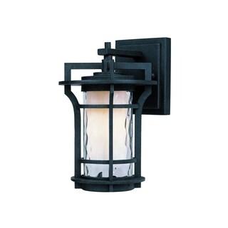 Black Oakville Die Cast Aluminum Water Glass Shade 1-light Outdoor Wall Mount Light