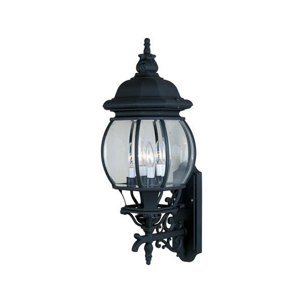 Maxim Black Die Cast Aluminum Shade Crown Hill 4-light Outdoor Wall Mount Light 15006946