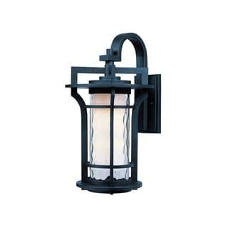 Black Die Cast Aluminum Water Glass Shade Oakville 1-light Outdoor Wall Mount Light