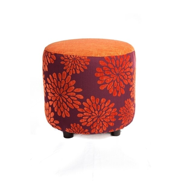 Clementine Fabric Ottoman
