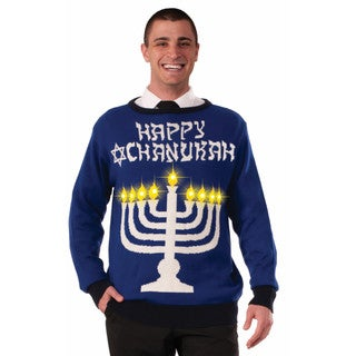 Happy Chanukah Light Up Ugly Holiday Sweater