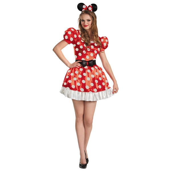 Disney Women's Minnie Mouse Classic Polka Dot Costume