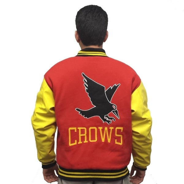 Men's Crows Red/ Yellow Varsity Jacket