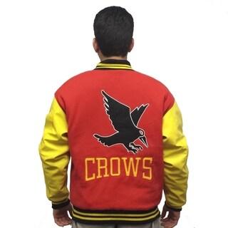 Men's Crows Red/ Yellow Varsity Jacket
