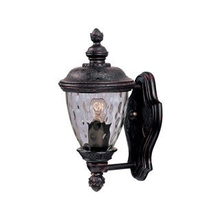 Bronze Die Cast Water Glass Shade Carriage House DC 1-light Outdoor Wall Mount Light