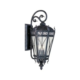 Bronze Forged Iron Shade Canterbury 5-light Outdoor Wall Mount Light