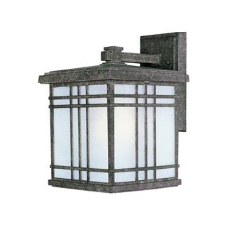 Sienna Die Cast Frosted Seedy Shade 1-light Outdoor Wall Mount Light