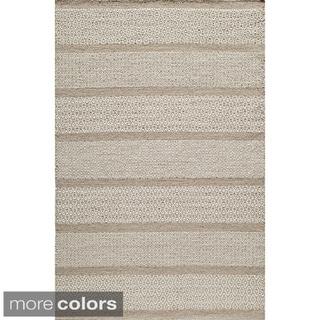 Sorrel Diamond Stripe Reversible Indoor Hand Woven Wool Area Rug (3'6 x 5'6)