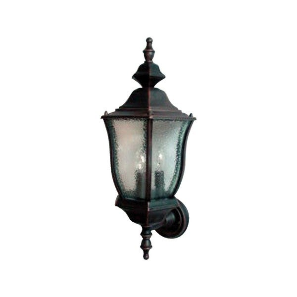 Rust Die Cast Shade Madrona 3-light Outdoor Wall Mount