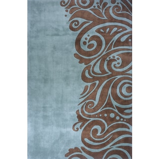 New Wave Fashion Hand-tufted Wool Area Rug (3'6 x 5'6)