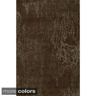 Silk Touch Abstract Wool Area Rug (3'6 x 5'6)