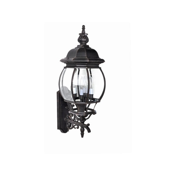 Maxim Rust Die Cast Shade Crown Hill 4-light Outdoor Wall Mount 15007657