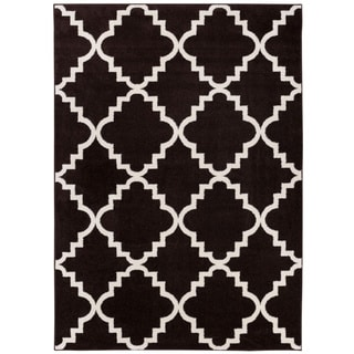 Well Woven Bright Trendy Twist Iron Trellis Lattice Red Blue Black Ivory Area Rug (7'10 x 10'6)