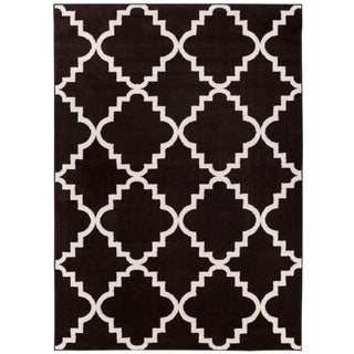 Well Woven Bright Trendy Twist Iron Trellis Lattice Moroccan Frise Texture Area Rug (7'10 x 10'6)