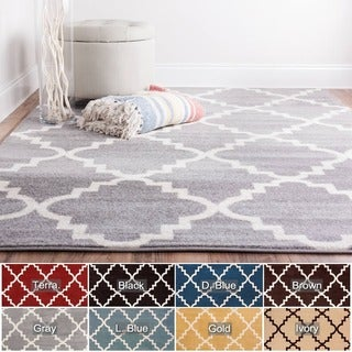 Well-woven Bright Trendy Twist Iron Trellis Lattice Geometric Polypropylene Rug (3'3 x 4'7)