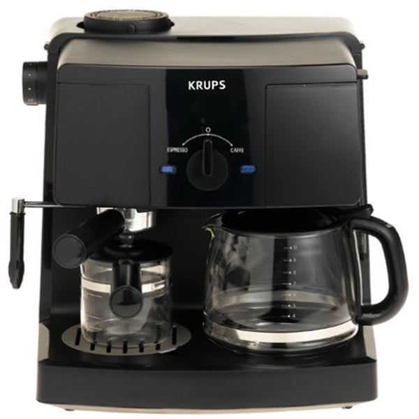 Krups XP1500 Black Coffee Maker and Espresso Machine Combination (Refurbished)