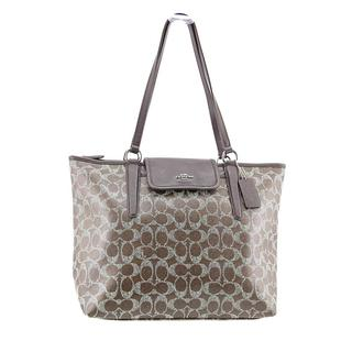 Coach Ward Tote in Signature Coated Canvas