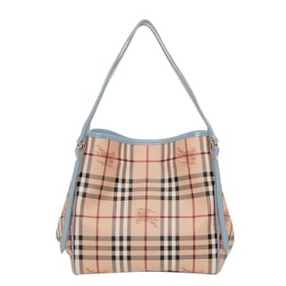 Burberry Small Canter Haymarket Check Tote