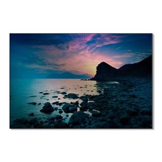 Vvvita's 'Beautiful Sunset over Rocky Coast' Print on Metal