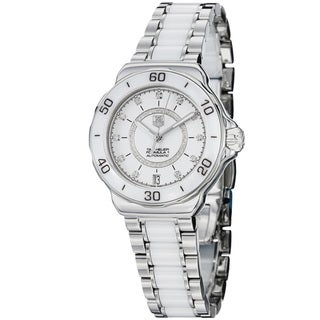 Tag Heuer Women's WAU2211.BA0861 'Formula 1' White Diamond Dial Stainless Steel Ceramic Automatic Watch