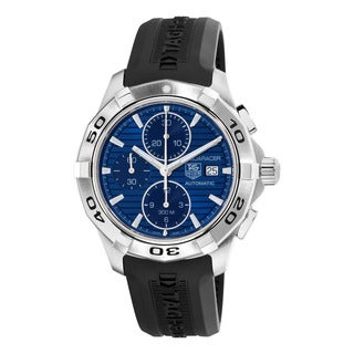 Tag Heuer Men's CAP2112.FT6028 '2000 Aquaracer' Blue Dial Black Rubber Strap Chronograph Automatic Watch
