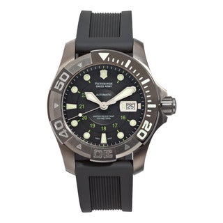 Swiss Army Men's V251355 'Dive Master' Black Dial Black Rubber Strap Automatic Watch