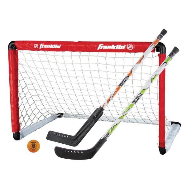 Franklin Sports NHL Goal and 2 Stick Set