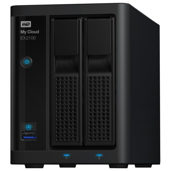 WD My Cloud Business Series EX2100, 4TB, 2-Bay Pre-configured NAS wit