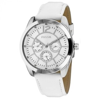 Fossil Women's BQ1457 'Classic' Chronograph White Leather Watch