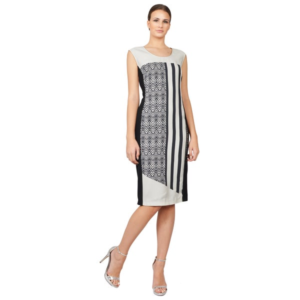 Costume National Women's Chevron Striped Sleeveless Cocktail Dress