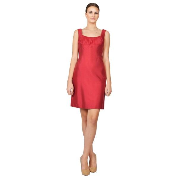 Giorgio Armani Collezioni Women's Red Gabardine Sheath Dress