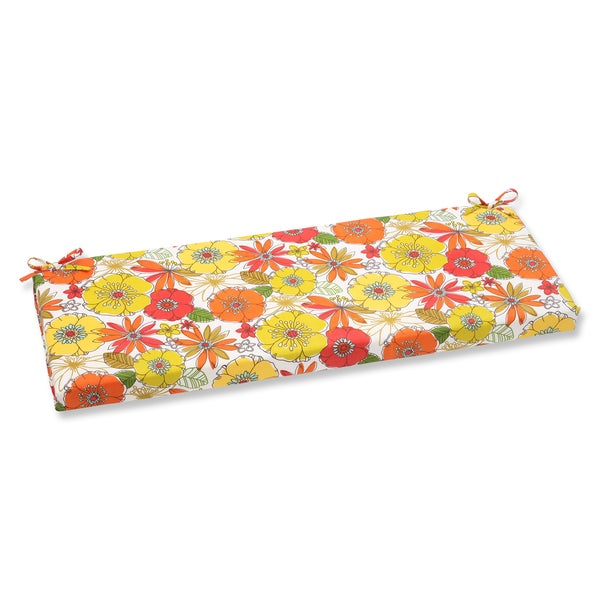 Pillow Perfect Outdoor Margate Lily Bench Cushion