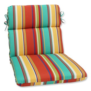 Pillow Perfect Outdoor Westport Spring Rounded Corners Chair Cushion