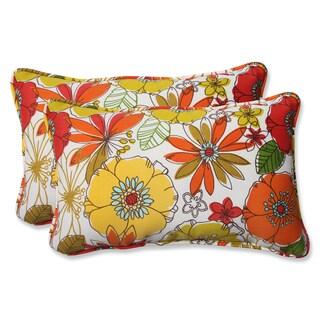 Pillow Perfect Outdoor Margate Lily Rectangular Throw Pillow (Set of 2)