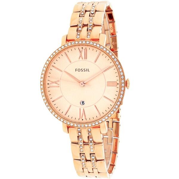 Fossil Women's ES3546 Jacqueline Round Rosetone Bracelet Watch