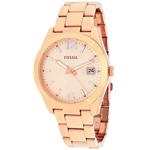 Fossil Women's ES3587 Perfect Boyfriend Round Rosetone Bracelet Watch