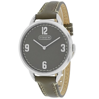 Coach Women's 14501681 Classic Round Brown Leather Strap Watch