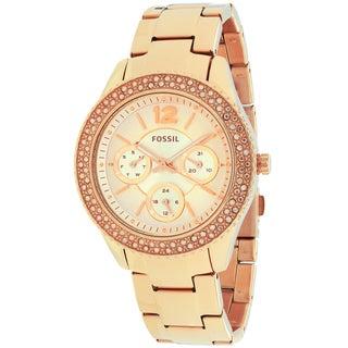 Fossil Women's ES3590 Stella Round Rosetone Bracelet Watch