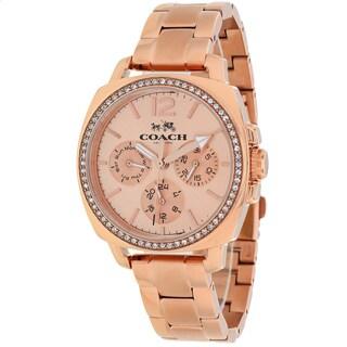 Coach Women's 14502128 Boyfriend Round Rosetone Bracelet Watch