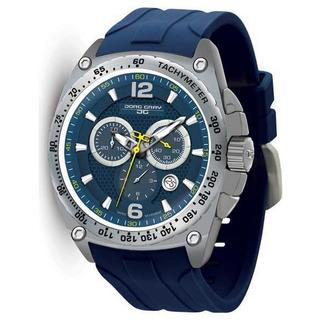 Jorg Gray Men's JG8400-21 Chronograph Blue Rubber Strap Watch